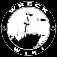 Wreck Wiki. Shipwrek site logo. Wreck scuba diving. Tec Diving.
