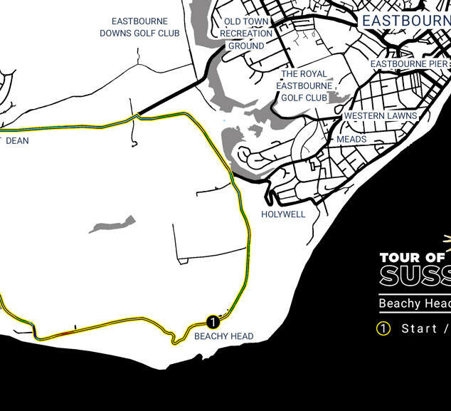 Beachy Head Classic - RR Circuit Map