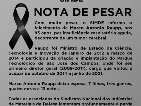 Nota de Pesar - Marco Antonio Raupp
