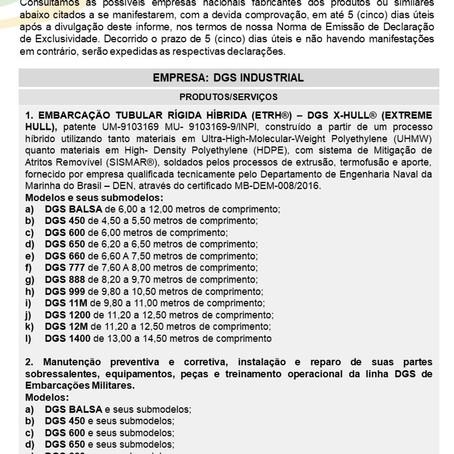 IDE 012/21 - Informativo de Declaração de Exclusividade