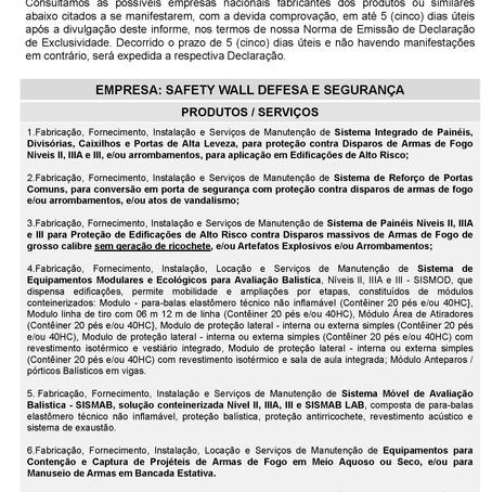 IDE 005/2021 - Informativo de Declaração de Exclusividade