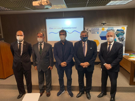 SIMDE participa de reunião do Cluster Naval com representantes da ALERJ