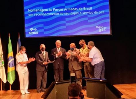Firjan e SIMDE promovem homenagem às Forças Armadas