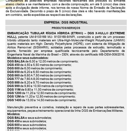 IDE 007/20 - Informativo de Declaração de Exclusividade