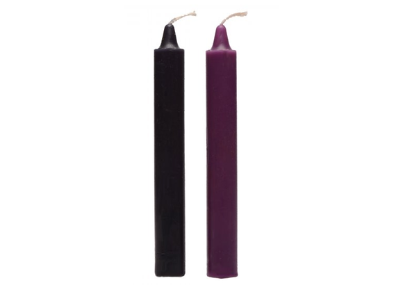 Black and Purple Wax Play Candles