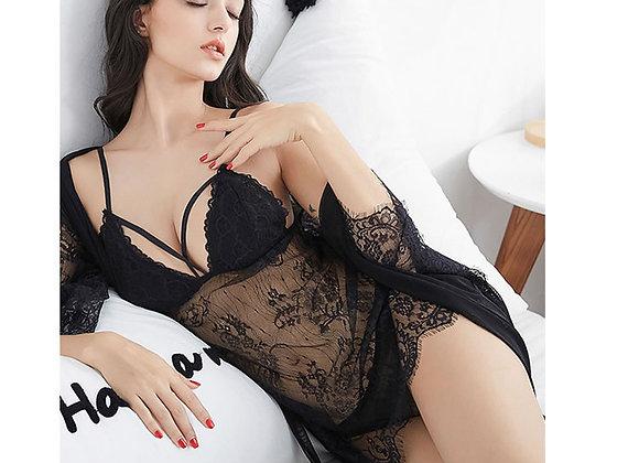 Lana Lace Babydoll & Robe Set