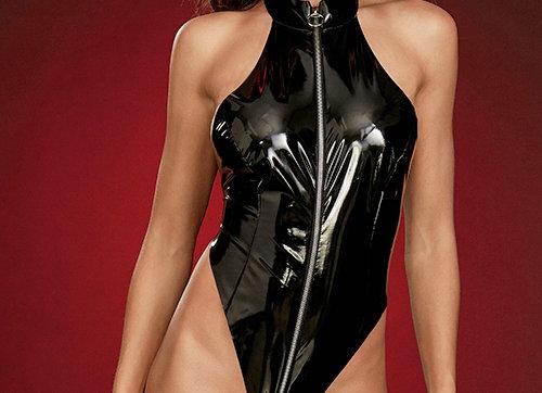 Sameera Wet-Look Bodysuit