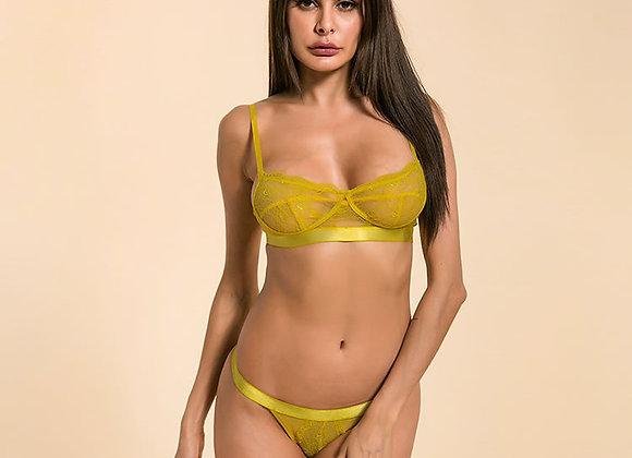 Delta Yellow Bra & Thong Set