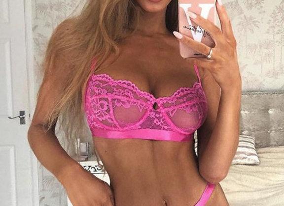 Jacinta Pink Lace Set