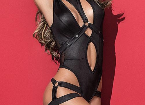 Uncaged Bodysuit With Detachable Harness
