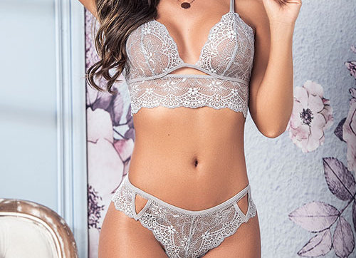 Frost Two Piece Delicate Lace Set