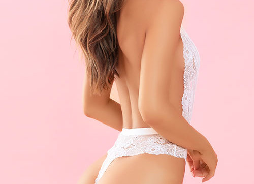 White Lace Plunging Teddy