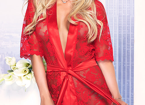 Scarlett Red Lace Robe