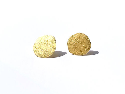 Ancient Coin Stud Earrings