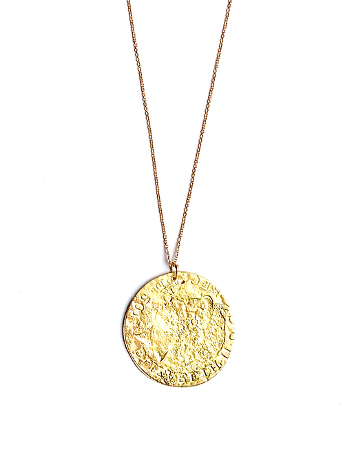 Ancient Gold Coin Pendant