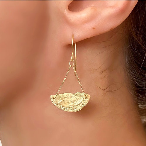 Quarter Moon Earrings
