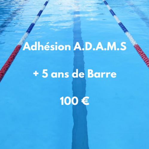 Adhésion A.D.A.M.S plus de 5 ans de Barreau