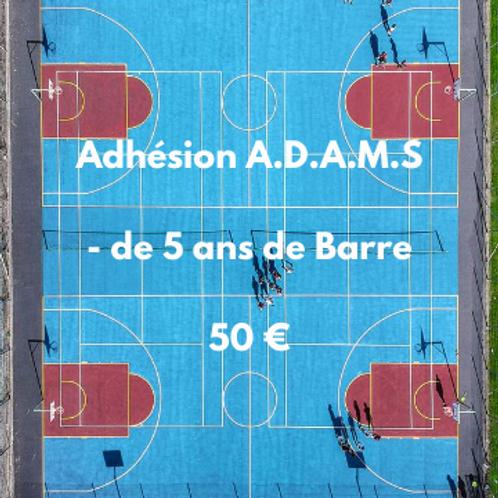Adhésion A.D.A.M.S moins de 5 ans de Barreau