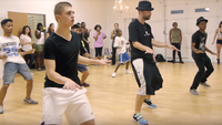 Hip-Hop master class with Justin Timberlake's back up dancers.