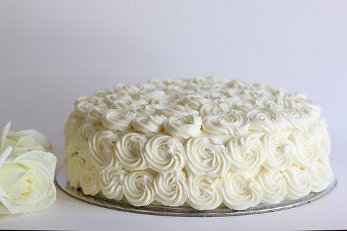 Vanila Cream Swirl Cake