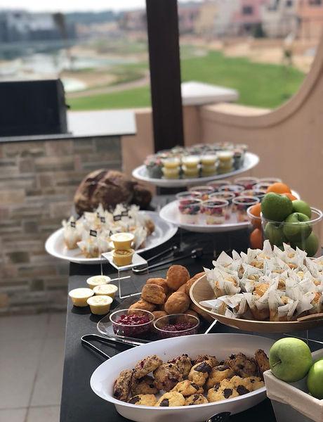 Home Catering, breakfast, baked goods
