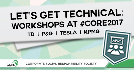 LET'S GET TECHNICAL: Workshops at #CORE2017