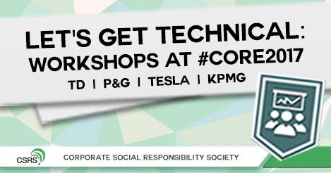 LET'S GET TECHNICAL: Workshops at #CORE2017