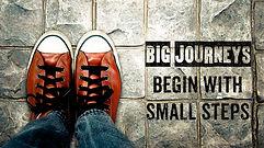 Inspire motivation quote, Big journeys b