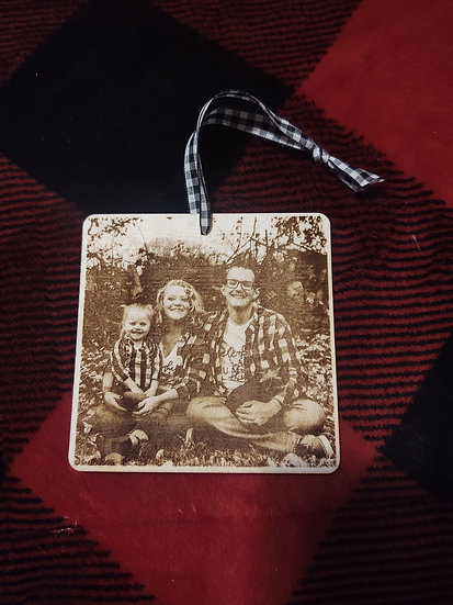 Photo engraved ornaments