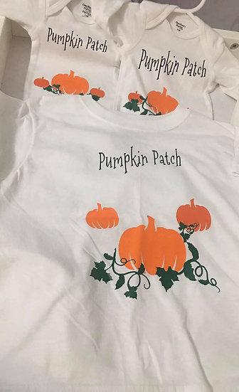 Pumpkin patch onesie 3-6 month