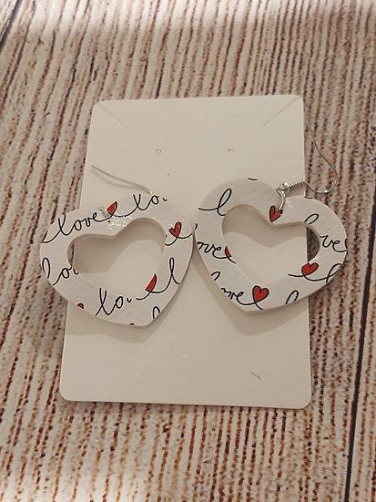Heart shaped - Leather Earrings