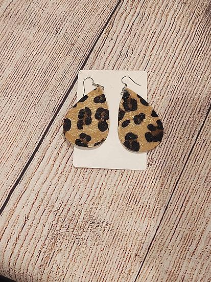 Leopard print fuzzy earrings