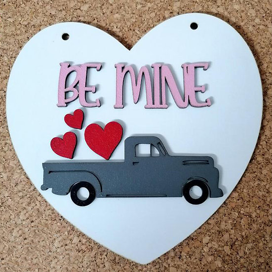 Valentines DIY kits - Truck Heart sign