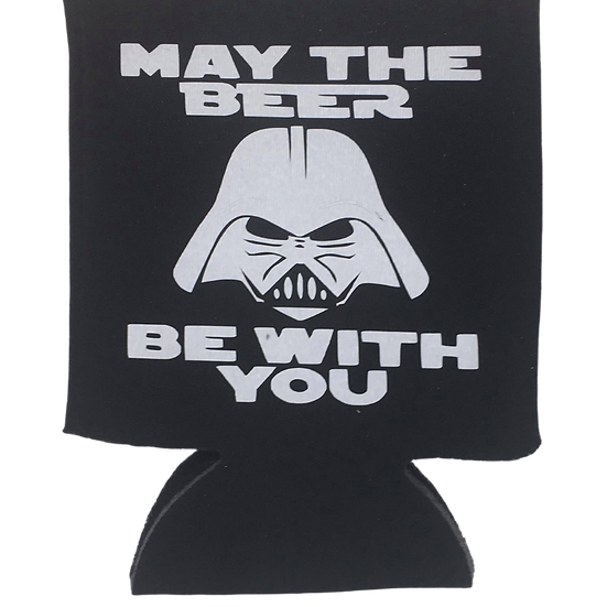 May the beer be with you koozie