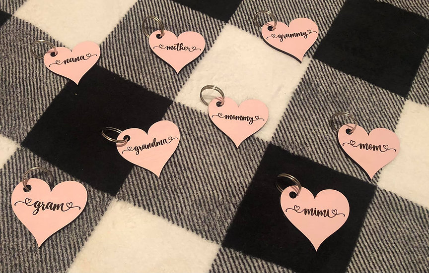 Custom Heart Key Chains
