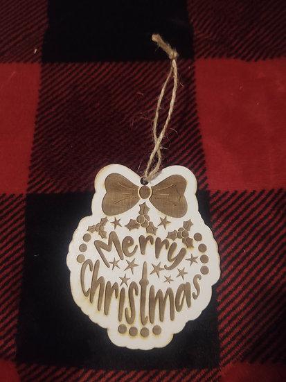Merry Christmas Wood Christmas Ornaments