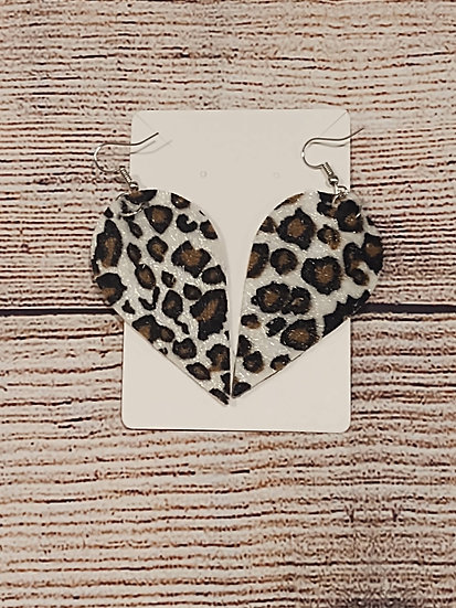 Leopard print fuzzy earrings