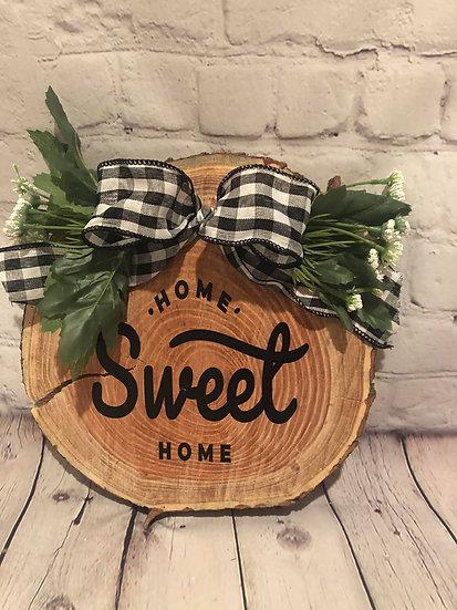 Home sweet home door hanger sign