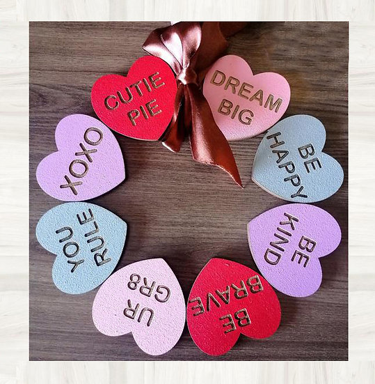 Candy Hearts - Valentines day sign -DIY kit