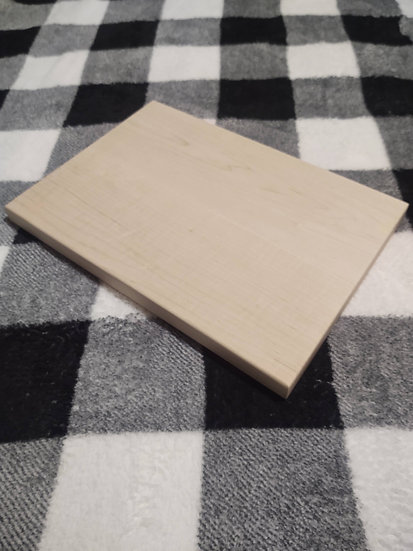 Customizable solid white maple cutting board