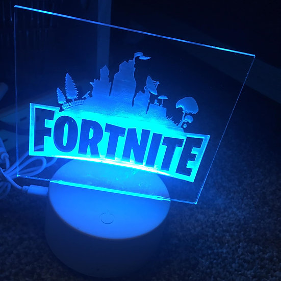 Fortnite lighted sign