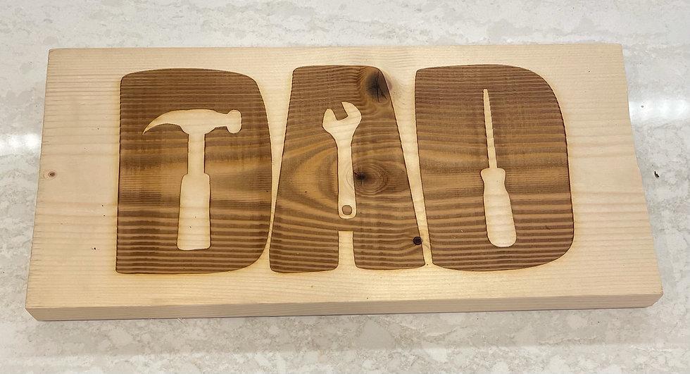 Dad sign - pine wood