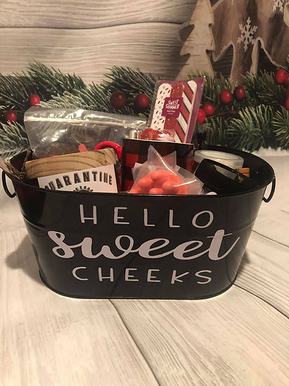 Hello Sweet Cheeks gift basket
