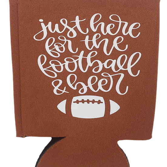 Just here for the football & beer koozie