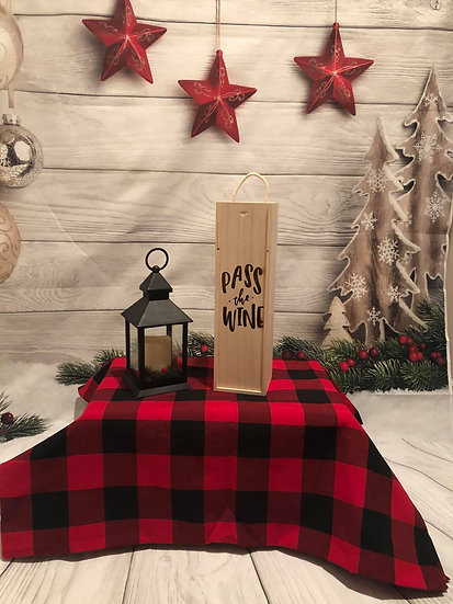 Single bottle wine box