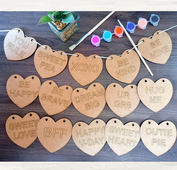 Candy Hearts banner - DIY kit