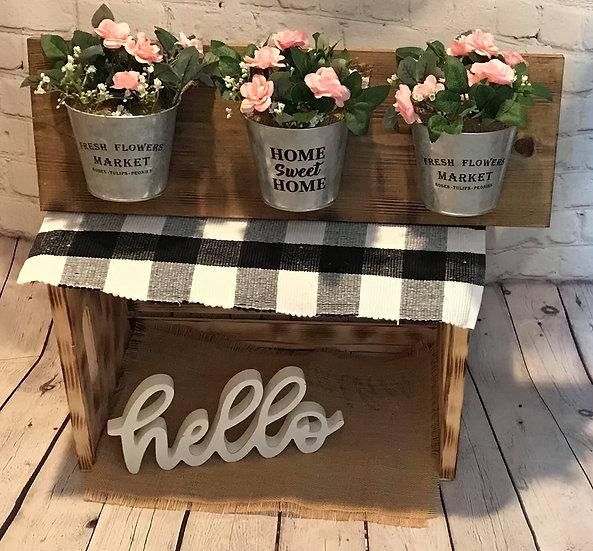 Spring bucket sign