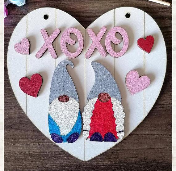 Valentines DIY kits - Gnomes Heart sign