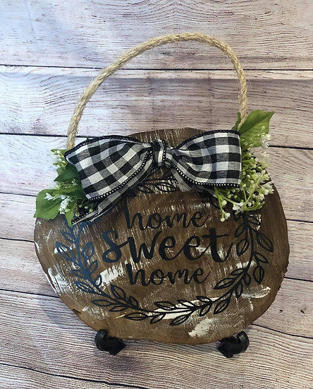 Wood door hanger - Home sweet home