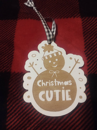 Christmas Cutie Wood Christmas Ornaments